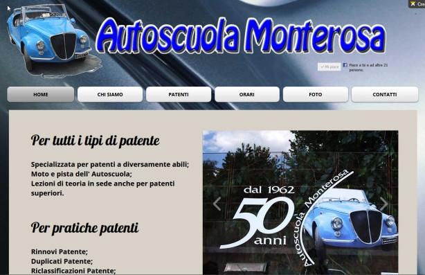 Sito dell'autoscuola Monterosa - Torino