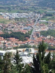 Da Monte Calvario: cava e statale per Mondovì
