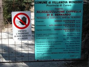 2003 - Ricollocazione Cappella di San Bernardo