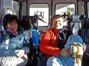 Il ritorno a casa in ambulanza