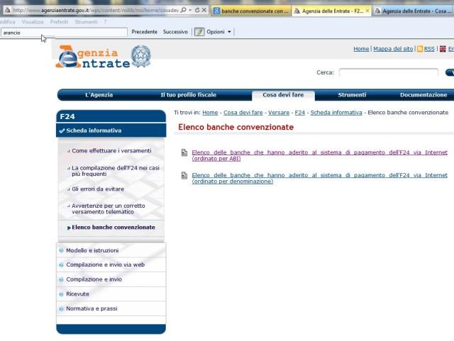 Elenco banche convenzionate con l'Agenzia delle Entrate