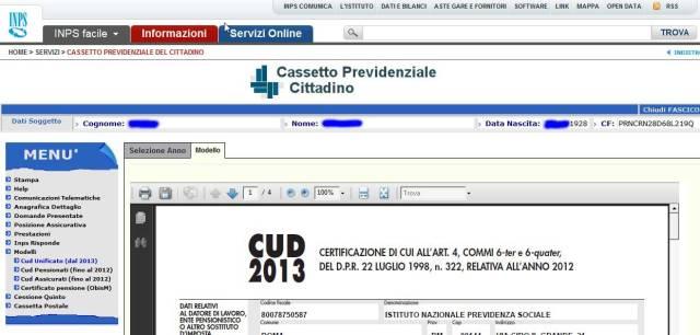 Modelli -> CUD Unificato 2013