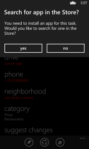 ask for app in the store