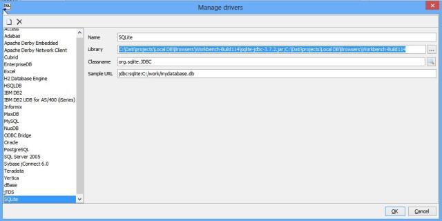 sql workbench - JDBC driver configuration