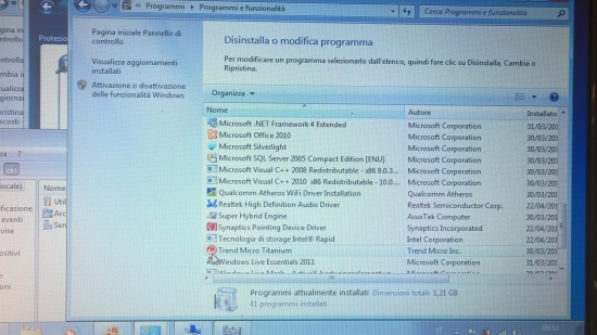 Disinstall other antivirus preinstalled in the system