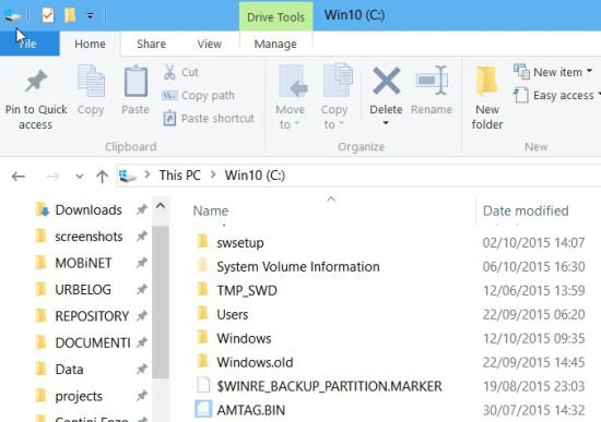 Windows.old -> only for backup