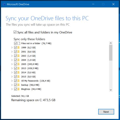 OneDrive configuration (4)