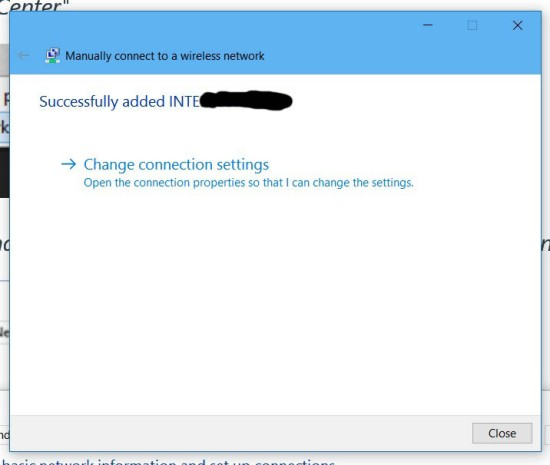 Manually connect to a wireless network (2)