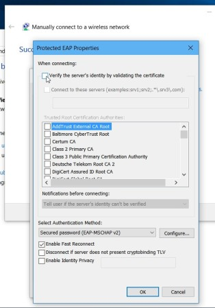Manually connect to a wireless network (5)