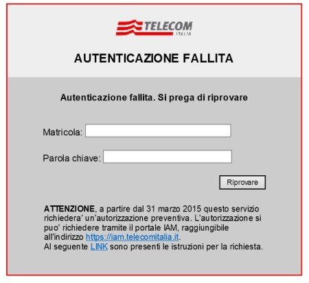 Login and link to request authorization