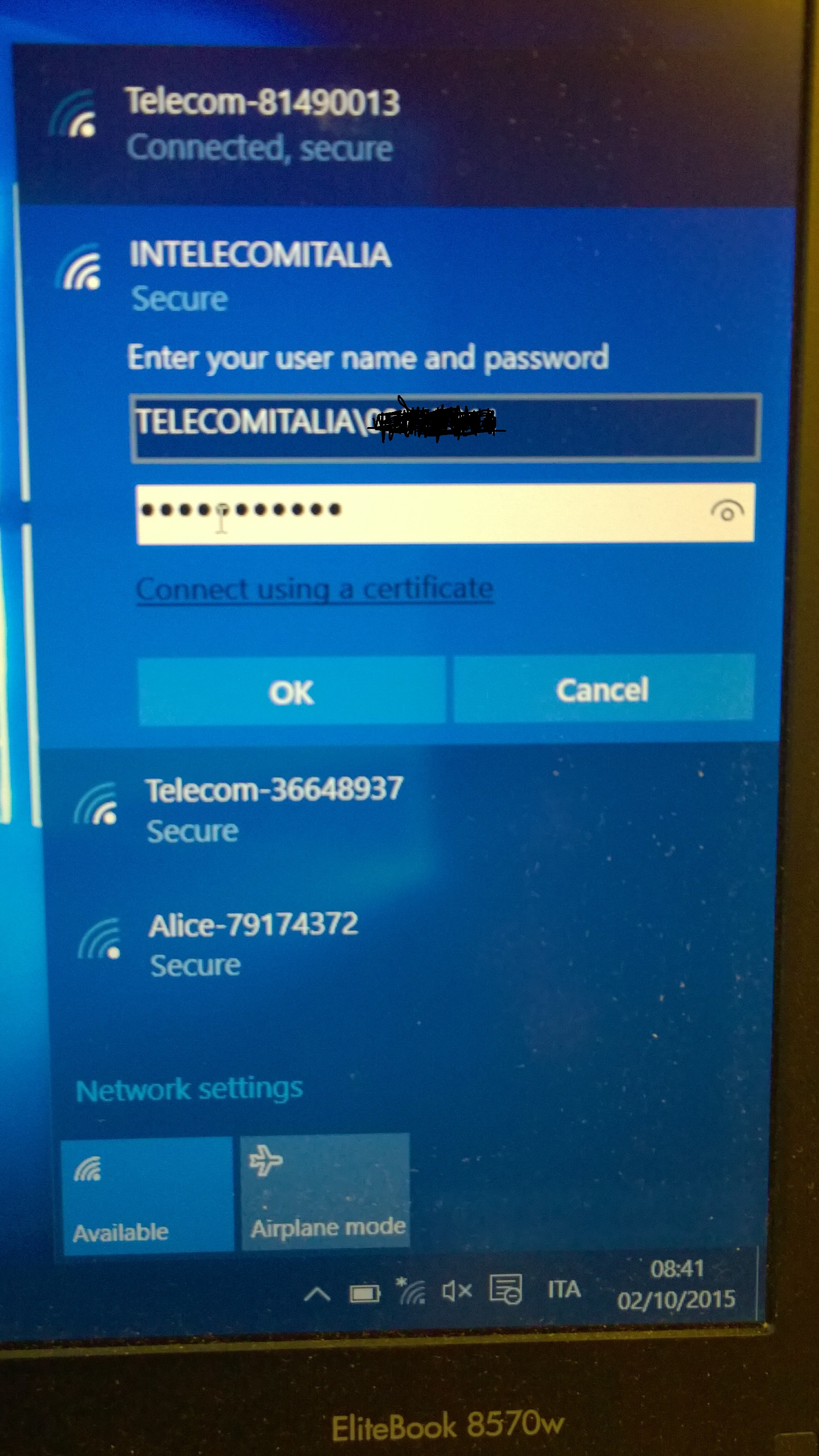 windows 10 connect to wifi manually