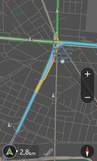 HERE: different directions, respect <em>Maps</em>, for reaching the same site at the same time