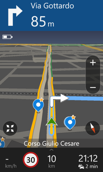 HERE: navigation (portrate mode)