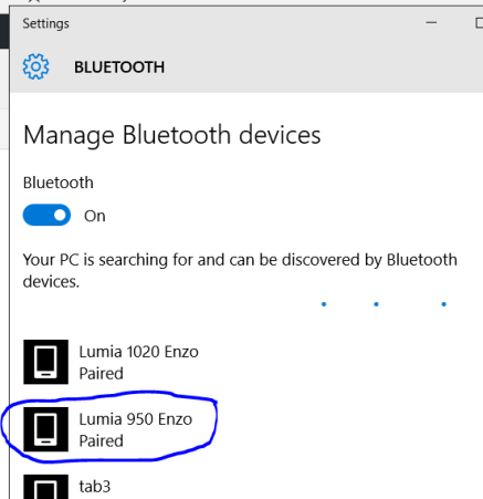 Bluetooth pairing to verify the new device name