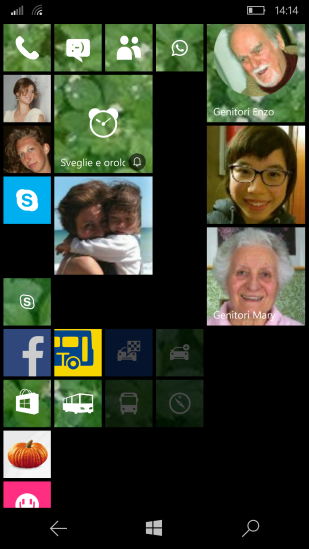 Contact live tile (now the old with squared picture and the new with a rounded picture ... that rotate somehow when the name is shown!)