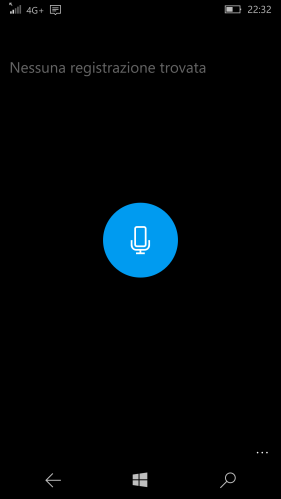 No recording available from the choosen recorder app