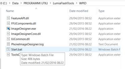 LumiaFlashTools: Start.bat