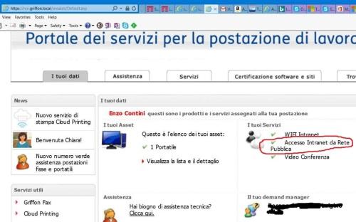 Accesso Intranet da Rete Pubblica (Utility Aziendali -> Servizi per il PC)