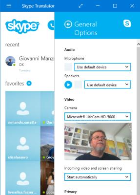 Skype Translator 10 Beta with Microsoft LiveCam HD-5000