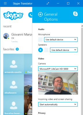 Skype Translator 10 Beta with Microsoft LiveCam HD-5000