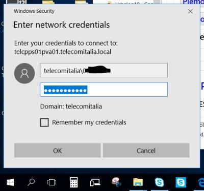 (2) Mount delle code di stampa da linea di comando: richiesta credenziali)