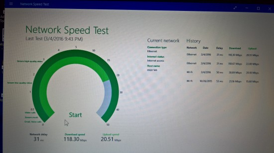 Esito di speedtest su linea SMART SUPERFIBRA Telecomitalia