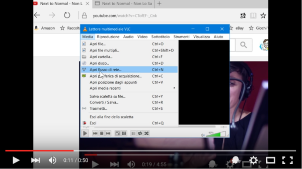 Download a video with the help of VLC Media Player