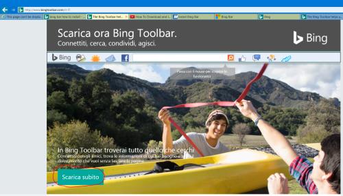 Installare la Bing Toolbar