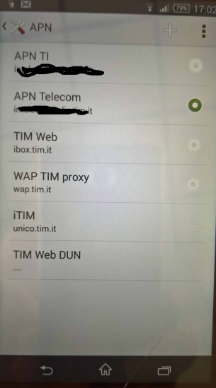 APN configuration in an Android device