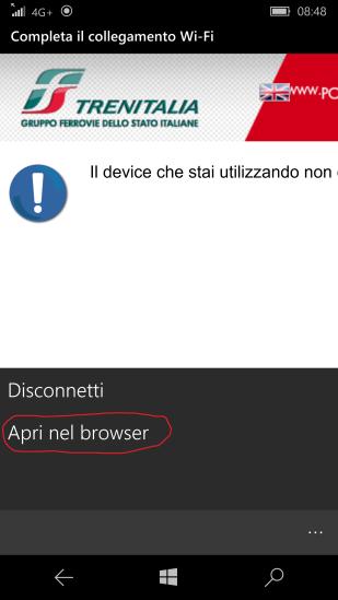"""Caso B - (2) Selezionare """"Apri nel browser"""""""