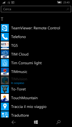 Phone (IT: Telefono) app