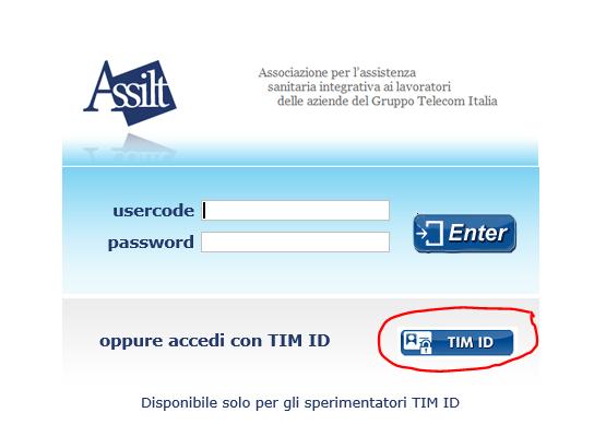 Sembra che si possa accedere con la TIMid anche al sito dell'ASSILT ... ma così non è