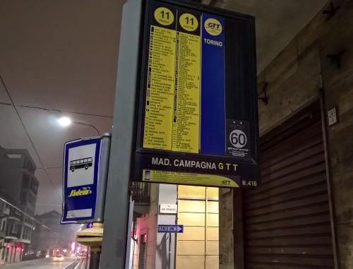 Torino Madonna di Campagna - Fermata 416 - via Stradella angolo C.so Grosseto - direzione Torino Centro