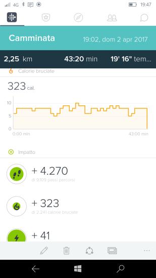 Dati relativi ad un percorso di camminata (3)