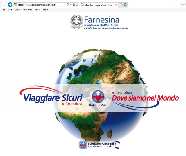 Sito del Ministero degli Affari Esteri all'indirizzo www.dovesiamonelmondo.it