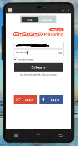 Login with the Mobizen account