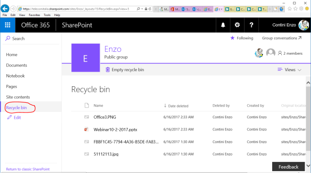 Recycle bin where all deleted files can be restored if the case (no matter where it was deleted from)
