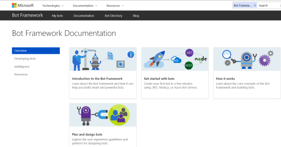 BOT Framework documentation