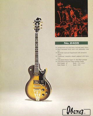The model 2405 as it appeared in mid-'70s Ibanez promo literature