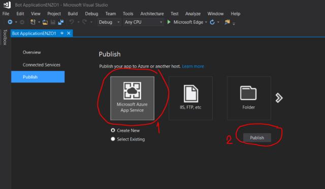 Build -> Publish projectName