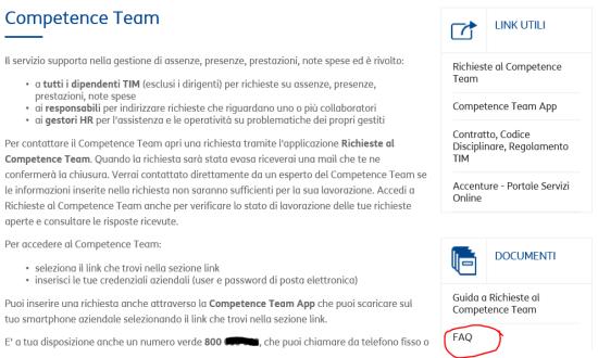 FAQ del Competence Team