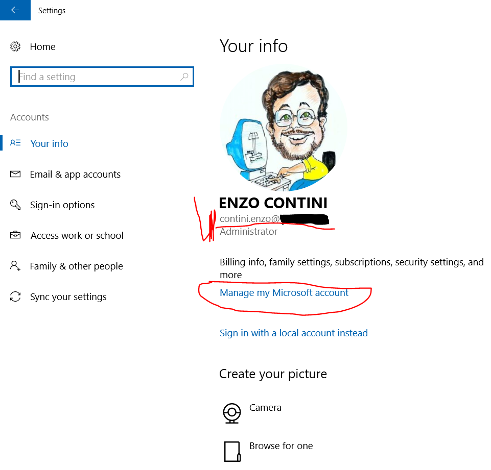"""Family useful features available for Microsoft accounts: """"Family"""