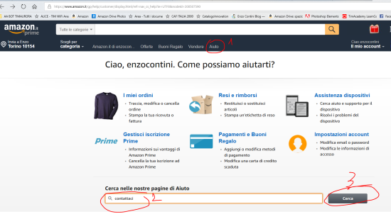 Come contattare telefonicamente o via chat un assistente Amazon (1)