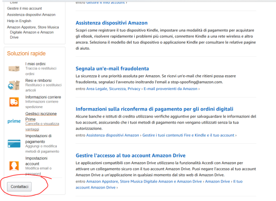 Come contattare telefonicamente o via chat un assistente Amazon (2)