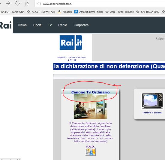 Scaricare la dichiarazione sostitutiva per cessare canone RAI (1) (NUOVO portale)