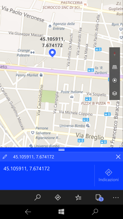 Find a place knowing its GPS coordinates - smartphone (2)