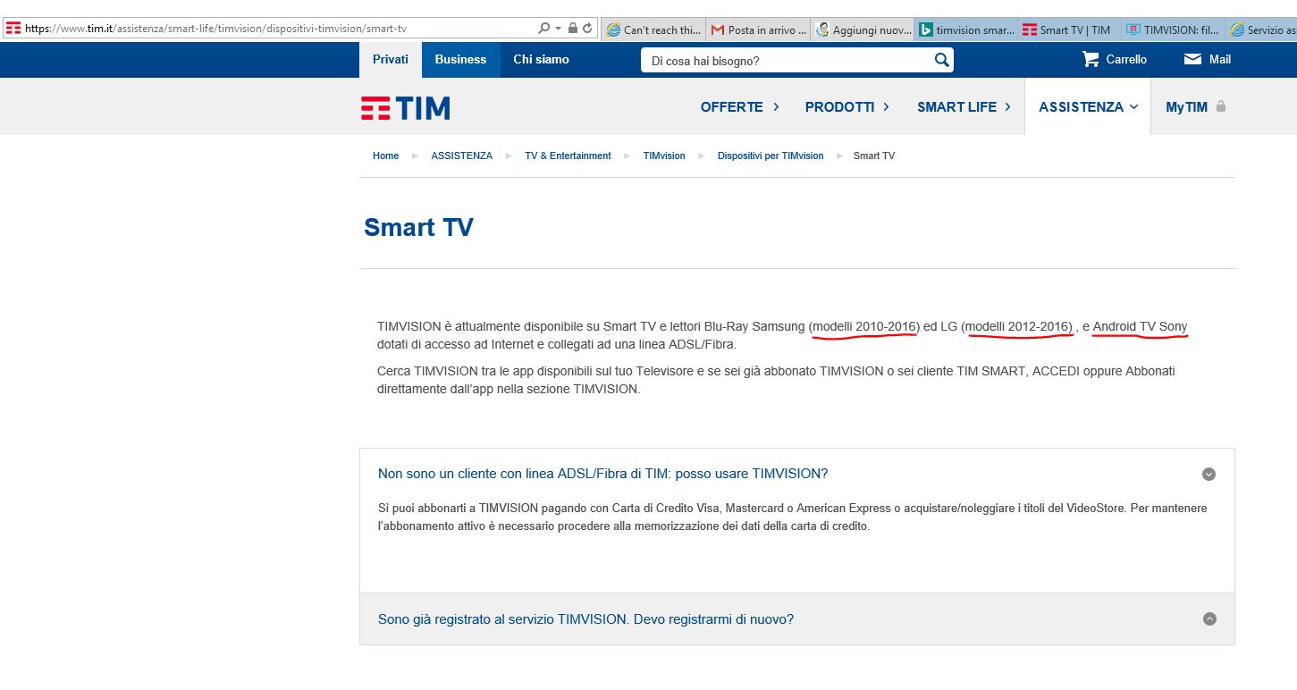 timvision su tv philips