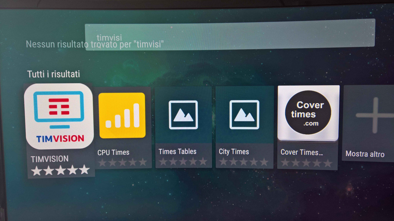 timvision su smart tv samsung