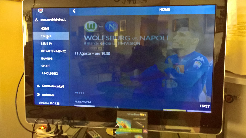 timvision su tv sony bravia