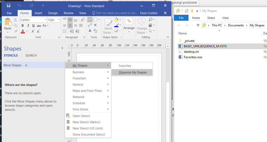 Drawing UML 2 5 diagrams with Visio 2016 (even with the